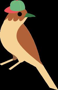 Passarinho mascote do evento versão infantil
